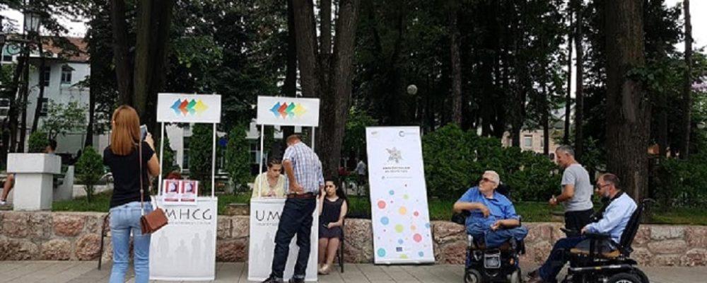 U Bijelom Polju organizovan info štand u okviru projekta Umrežavanjem do boljeg rada