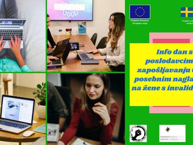 NAJAVA: UMHCG organizuje Info dan s poslodavcima o zapošljavanju žena s invaliditetom