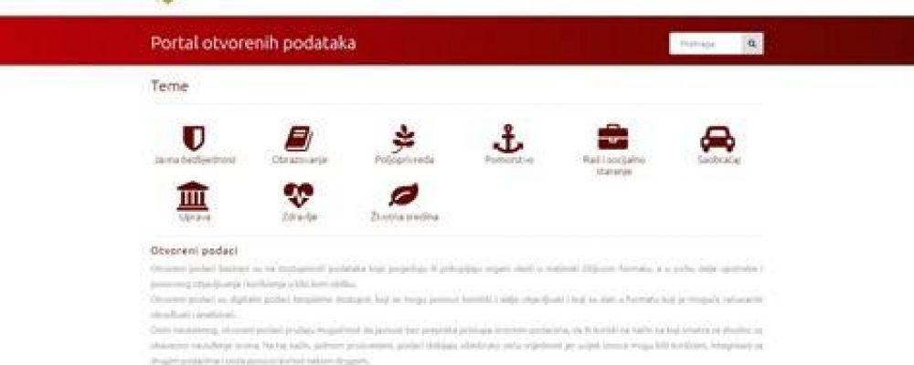 Pokrenut portal otvorenih podataka